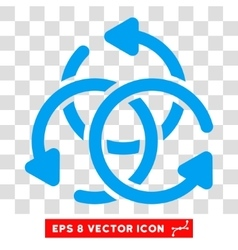 Knot rotation round eps icon vector
