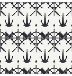Line nautical seamless background pattern vector