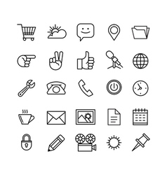 line phone icons set isolated Icons for business vector image vector image