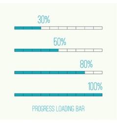 Linear loader bar vector