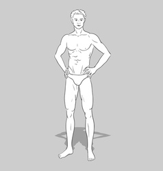 Male fashion figurine vector