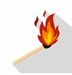 Match with fire icon flat style vector image vector image