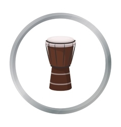 National brazilian drum icon in cartoon style vector