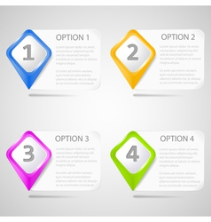 Paper choice pointers eps10 vector image vector image