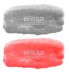 red and black watercolor banners made with real vector image vector image