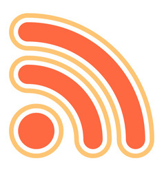 Rss sign or wi-fi signal icon vector