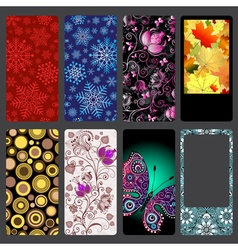 Set of colorful dust covers for mobile phone vector image vector image