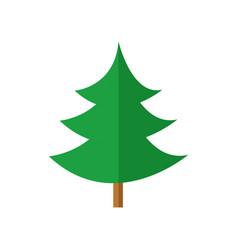 Simple curvy pine christmas tree vector