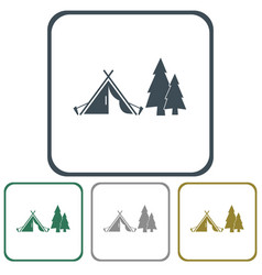 stylized icon of tourist tent vector image vector image