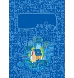 Sweet home greeting card vector
