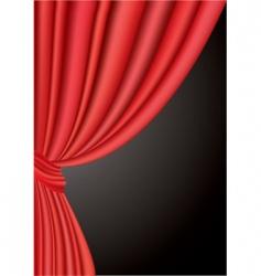 tree curtain vector image