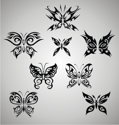 Tribal Butterfly Set vector image vector image
