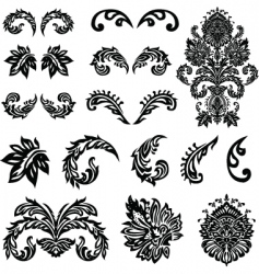 vector Victorian ornament set vector image vector image