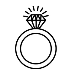 Ring diamond isolated icon vector