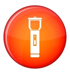 Pocket flashlight icon flat style vector