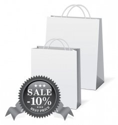 Shopping paper bags vector