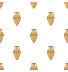 Greece amphora icon in cartoon style isolated on vector