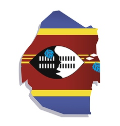 swaziland africa map flag vector image