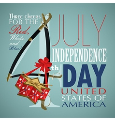 4 july independence day festive background vector