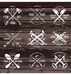 Set of vintage design elements vector