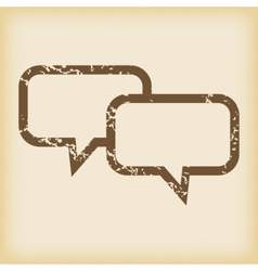 Grungy chat icon vector