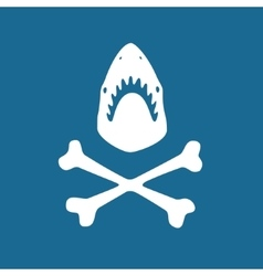Shark symbol vector image