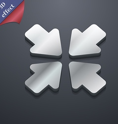 Turn to full screen icon symbol 3d style trendy vector