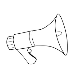Megaphone sound equipment vector
