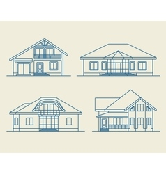 Houses linear 4 vector
