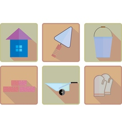 Flat working icons vector