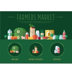 Farmers market vector