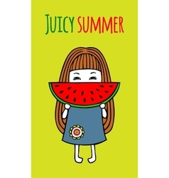 Card juicy summer vector