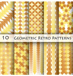 10 geomatric retro pattern graphic design vector