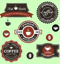 Coffee labels in retro style vector