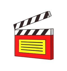 Clapperboard icon cartoon style vector