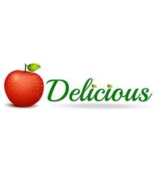 A delicious apple vector