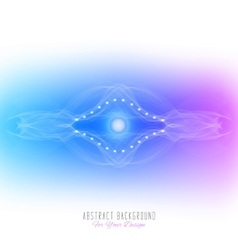 Abstract alien organism or cellblue and purple vector