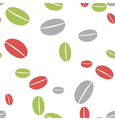 Colored coffee bean abstract seamless background vector