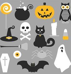 Halloween flat icons design vector
