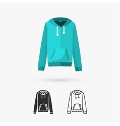 Hooded sweater vector image vector image