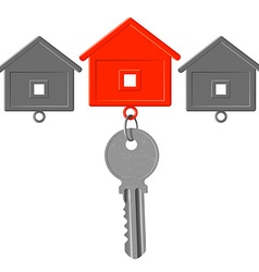 key to the lock and key chain in the form of house vector image