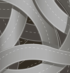 knot of roads vector image