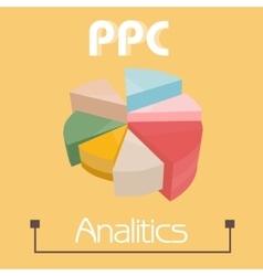 Ppc analytics pie pie charts pretty colors vector