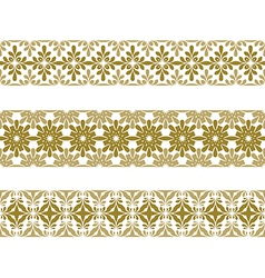 seamless pattern border vector image