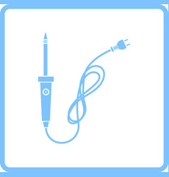 Soldering iron icon vector