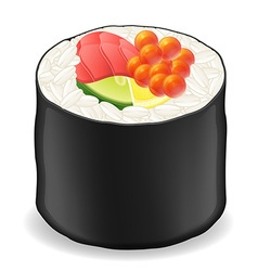 sushi rolls 04 vector image vector image