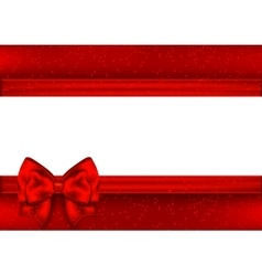 Template for greeting card border red tape vector