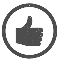 Thumb up icon rubber stamp vector