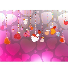 Valentines Day Background EPS 10 vector image vector image