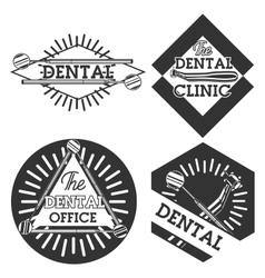 Vintage dental emblems vector image vector image